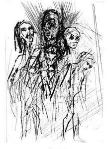Isaac Celnikier, Triptychon 3 - Irrende Frauen